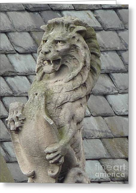 Growling Greeting Cards - Lion Rampant Greeting Card by Deborah Smolinske