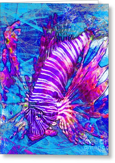 Snorkel Digital Greeting Cards - Lionfish In Living Color 5d24143mp168p88 Greeting Card by Wingsdomain Art and Photography