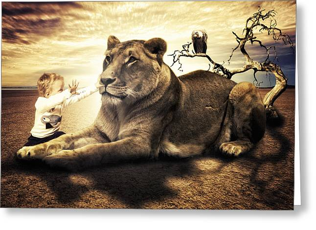 Noble Greeting Cards - Lionheart Greeting Card by Erik Brede