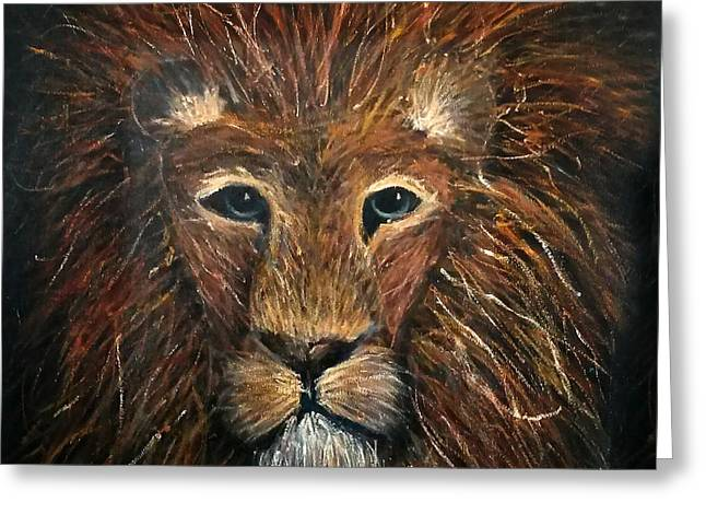 Narnia Greeting Cards - Lionhearted Greeting Card by Averi Wolff