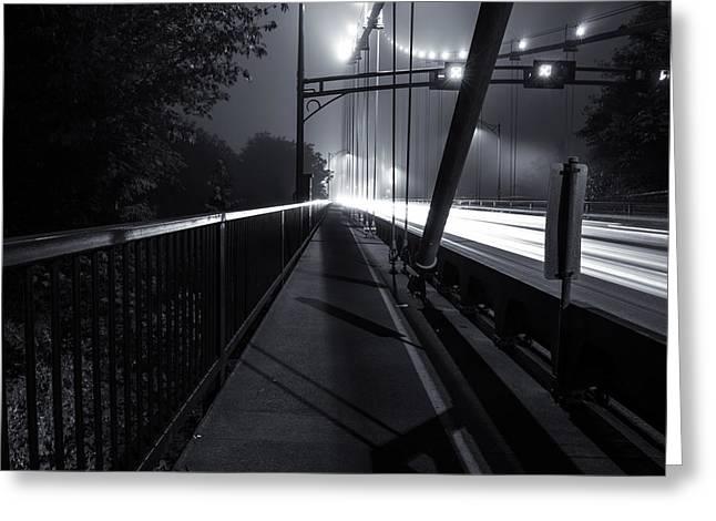 Tron Greeting Cards - Lions Gate Bridge Greeting Card by Alex Land