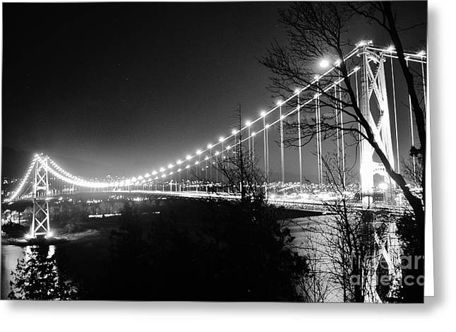 Recently Sold -  - Lions Greeting Cards - Lions Gate Bridge Greeting Card by Jeffrey Dadson