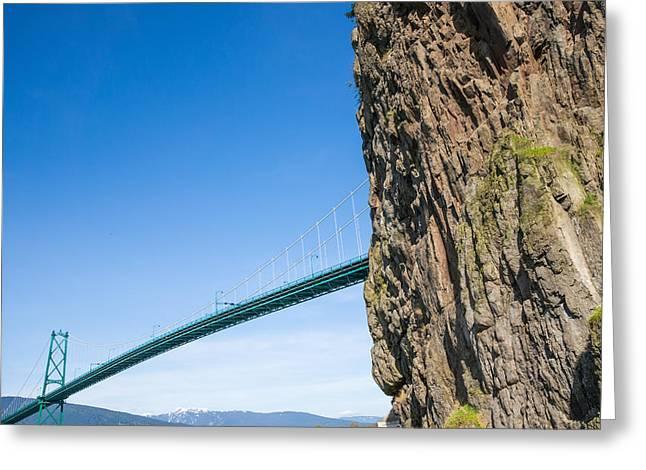 Lions Gate Bridge Greeting Card by Volodymyr Kyrylyuk