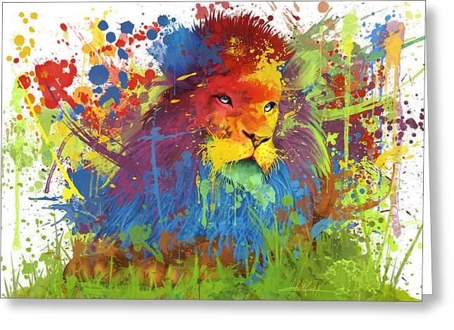 Christian Pictures Digital Greeting Cards - Lions True Color Greeting Card by Victor  Castillo