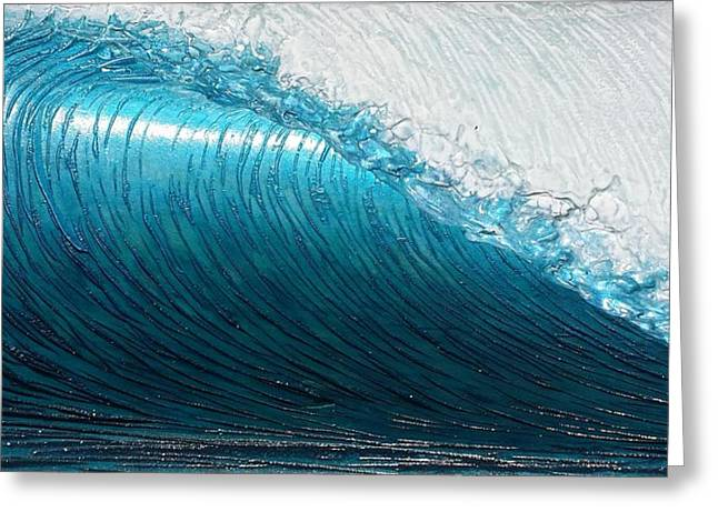 Ocean Reliefs Greeting Cards - Lip Line Greeting Card by Nathan Ledyard