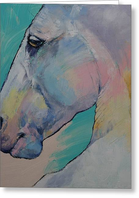 Subtle Colors Greeting Cards - Lipizzan Stallion Greeting Card by Michael Creese