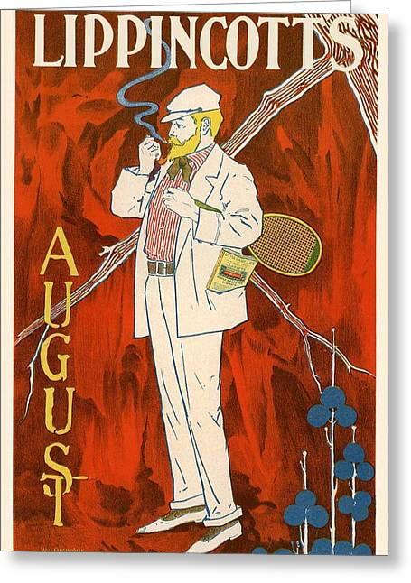 Belle Epoque Greeting Cards - Lippincotts August Greeting Card by Gianfranco Weiss