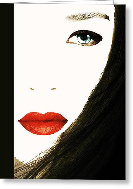 Lips Greeting Card by Bruce Iorio