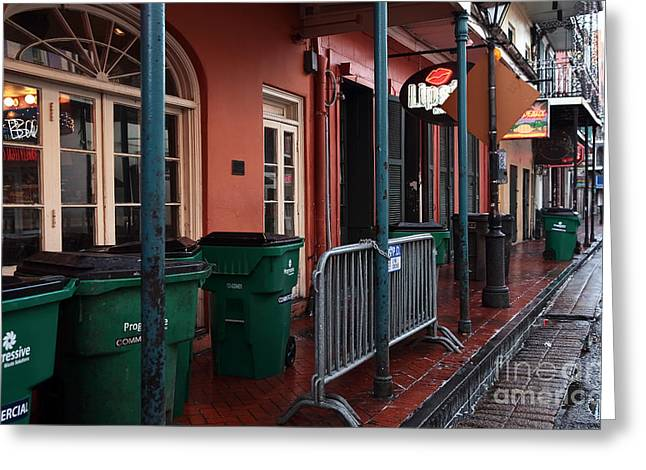 Rue Bourbon Greeting Cards - Lipstick in Orleans Greeting Card by John Rizzuto