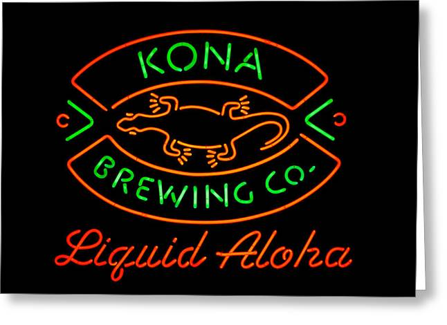 Kona Brewing Greeting Cards - Liquid Aloha Greeting Card by Dan McManus