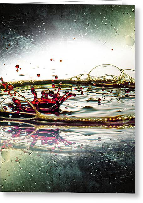 Abstract Rain Greeting Cards - Liquid dance Greeting Card by Ivan Vukelic