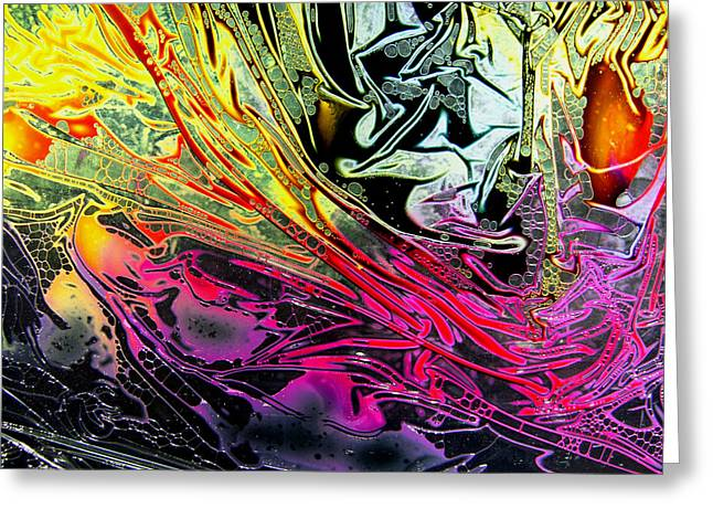 Fantastic Realism Greeting Cards - Liquid Decalcomaniac Desires 1 Greeting Card by Otto Rapp