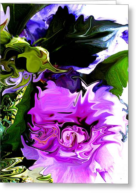 Concept Photographs Greeting Cards - Liquid Flower Greeting Card by Gardening Perfection