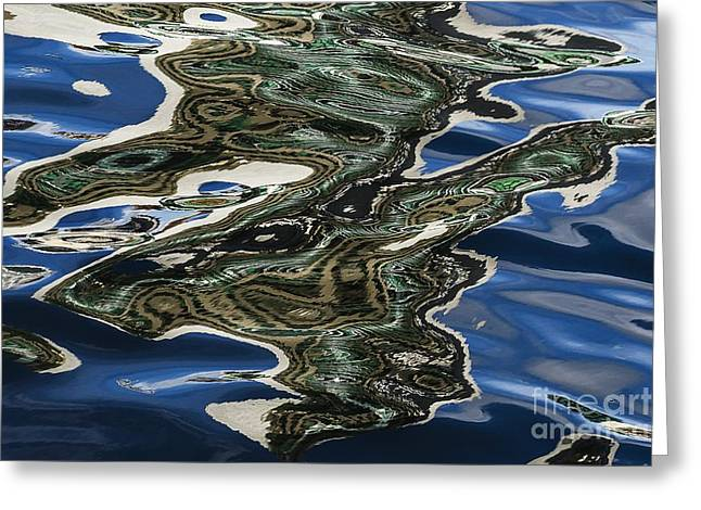 Abstractions Greeting Cards - Liquid Gold Greeting Card by Andrew Paranavitana