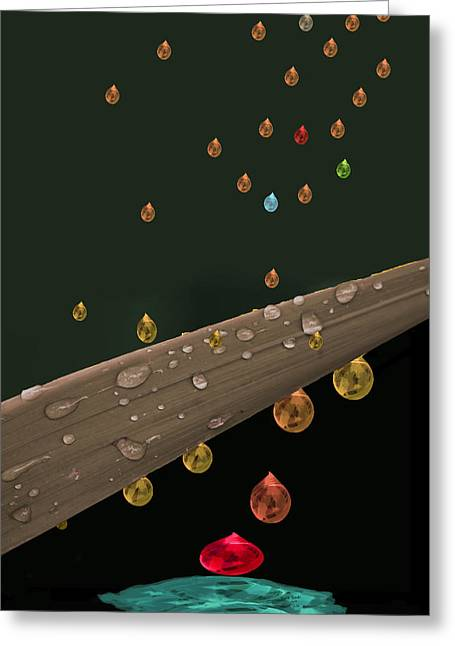 Liquid Gold Greeting Card by Angela A Stanton