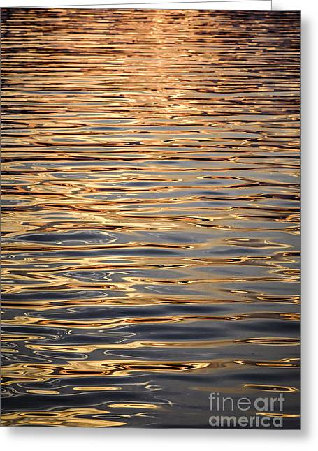 Water Patterns Greeting Cards - Liquid gold Greeting Card by Elena Elisseeva