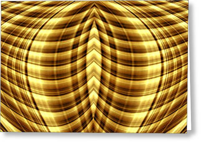 Color Enhanced Greeting Cards - Liquid Gold 1 Greeting Card by Wendy Wilton