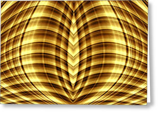 Color Enhanced Greeting Cards - Liquid Gold 3 Greeting Card by Wendy Wilton