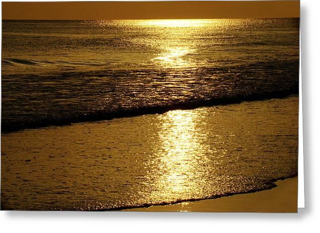 Liquid Gold Greeting Card by Sandy Keeton