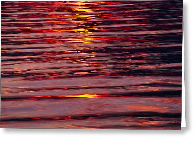 Nautical Greeting Cards - Liquid Sunset - Lake Geneva Wisconsin Greeting Card by Bruce Thompson