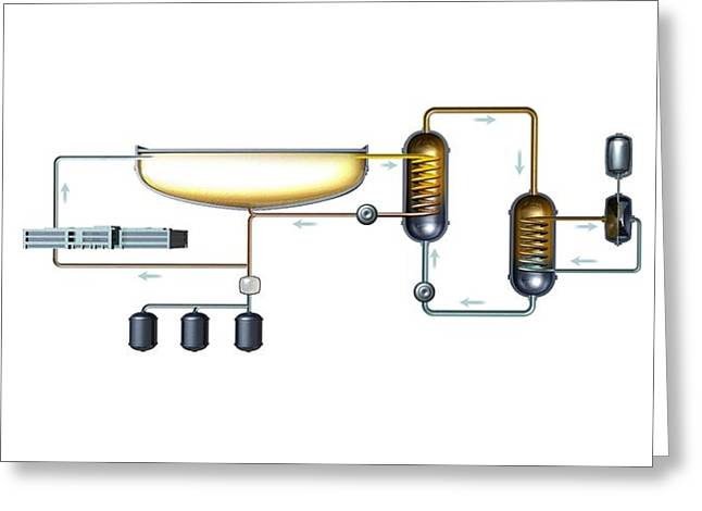 Industrial Background Greeting Cards - Liquid thorium reactor, artwork Greeting Card by Science Photo Library