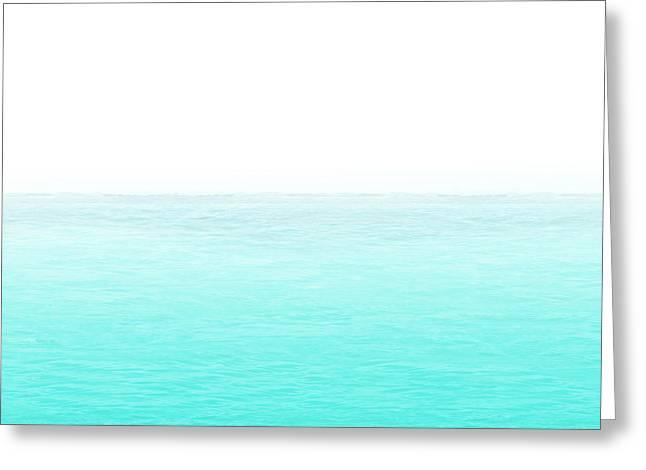 Liquid Zen Greeting Card by Susan Oppelt
