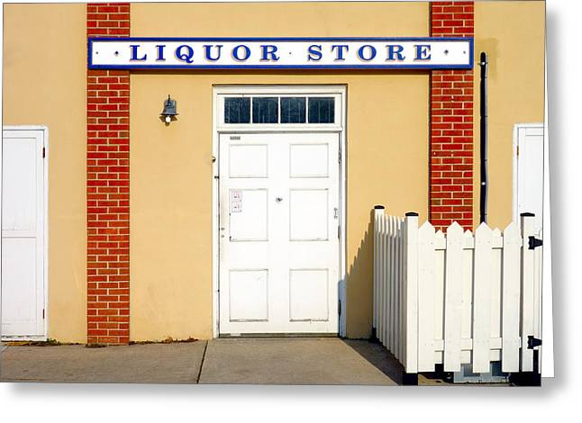 Grocery Store Greeting Cards - Liquor Store Greeting Card by Valentino Visentini