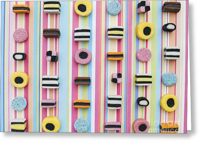Assorted Greeting Cards - Liquorice allsorts Greeting Card by Tim Gainey