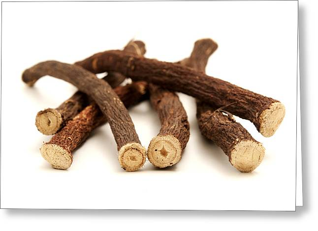 Glabra Greeting Cards - Liquorice roots Greeting Card by Fabrizio Troiani