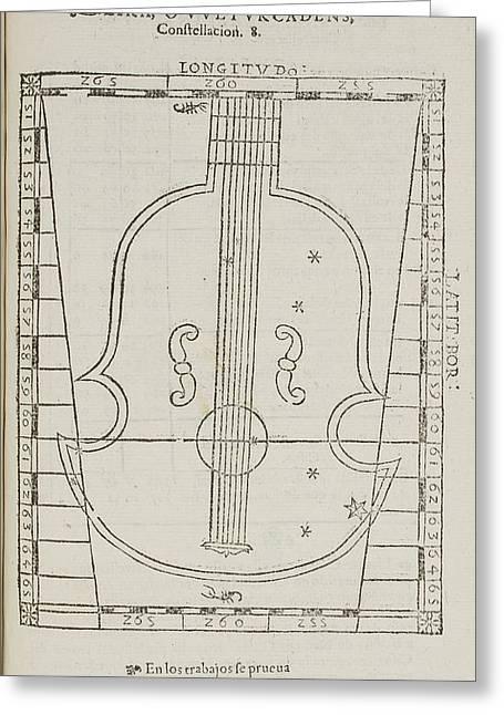 Lira Star Constellation Greeting Card by British Library