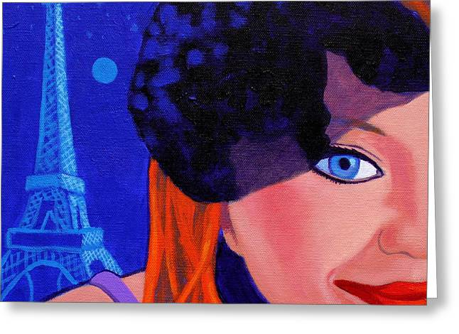 Burlesque Paintings Greeting Cards - Lisa Darling - Paris - Irish Burlesque Greeting Card by John  Nolan