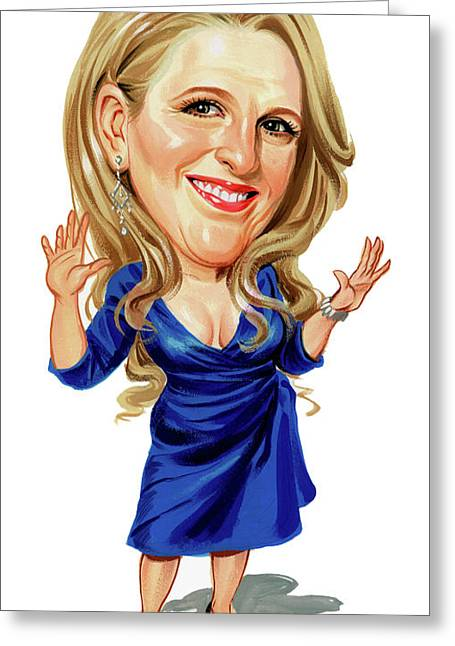 Comedian Paintings Greeting Cards - Lisa Lampanelli Greeting Card by Art