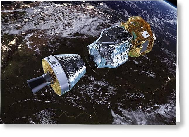 Lisa Pathfinder Space Probe Greeting Card by Esa/atg Medialab