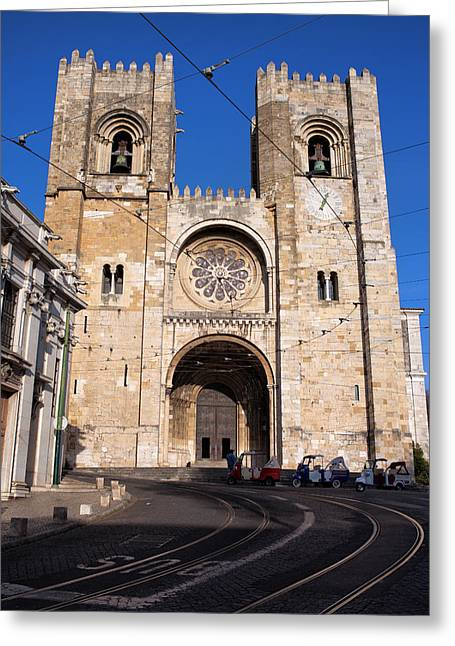 Lisbon Cathedral In Portugal Greeting Card by Artur Bogacki