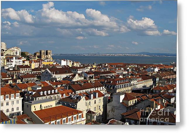 Lisboa Greeting Cards - Lisbon City View Greeting Card by Kiril Stanchev