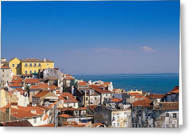 Lisbon, Cityscape, Skyline, Portugal Greeting Card by Panoramic Images