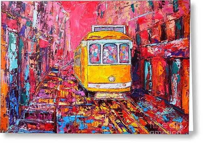 Lisbon Impression Greeting Card by Ana Maria Edulescu