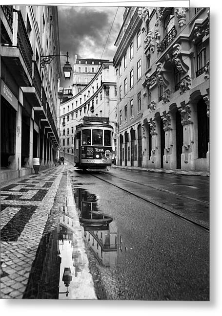 Tram Photographs Greeting Cards - Lisbon Greeting Card by Jorge Maia