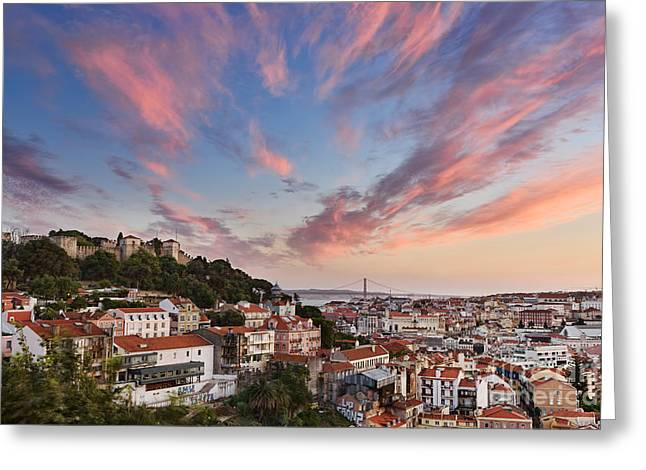 Lisbon Greeting Card by Rod McLean