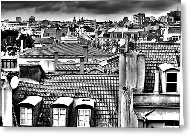Old Street Greeting Cards - Lisbon Rooftops II Greeting Card by Marco Oliveira