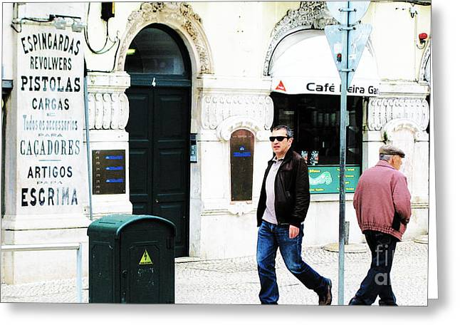 Lisbona Banner Greeting Card by Alice Gardoni