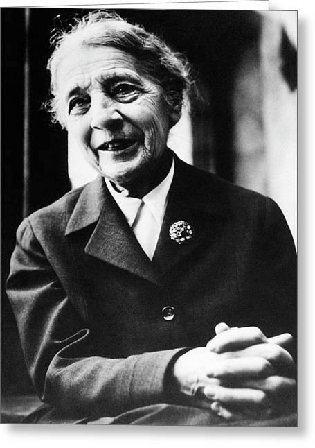 Lise Meitner Greeting Card by Emilio Segre Visual Archives/american Institute Of Physics