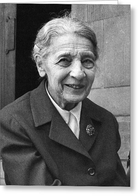 Bryn Mawr Greeting Cards - Lise Meitner, German chemist Greeting Card by Science Photo Library
