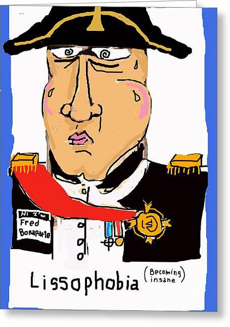 Humorous Greeting Cards Greeting Cards - Lissophobia Greeting Card by Joe Jake Pratt