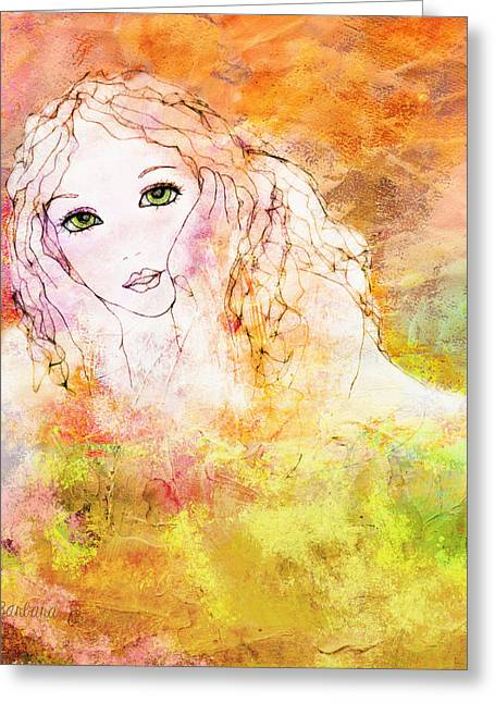 Listen To The Colour Of Your Dreams Greeting Card by Barbara Orenya