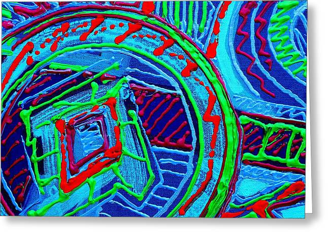 Abstract Colourful Greeting Cards - Listen You Can Hear Greeting Card by John  Nolan