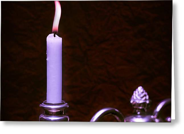 Lit Candle Greeting Card by Amanda And Christopher Elwell