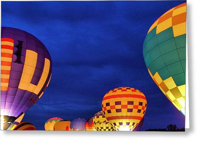 American Tradition Greeting Cards - Lit Up Greeting Card by Dan Sproul