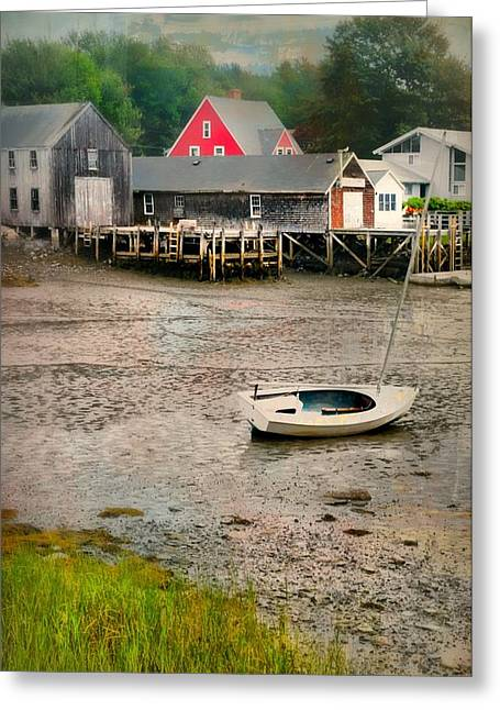 Kennebunkport Greeting Cards - Lita Bit of Red Greeting Card by Diana Angstadt