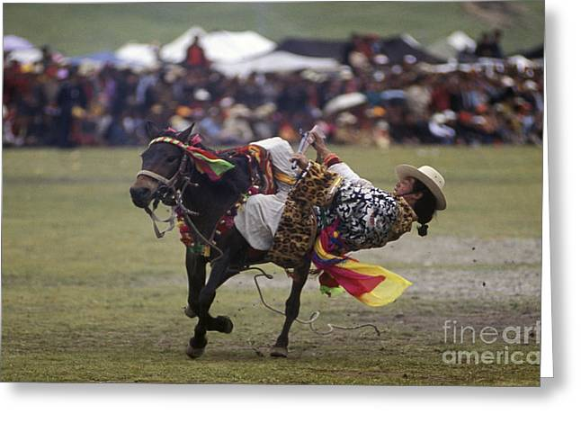 Kham Greeting Cards - Litang Horse Festival - Kham Tibet Greeting Card by Craig Lovell